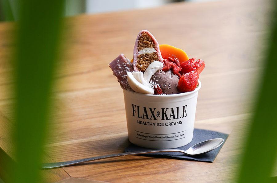 Helado Flax and Kale